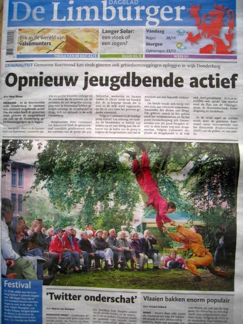 Dagblad De Limburger 8 augustus 2013